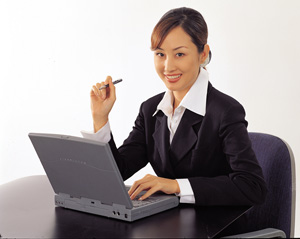 Lady On Laptop