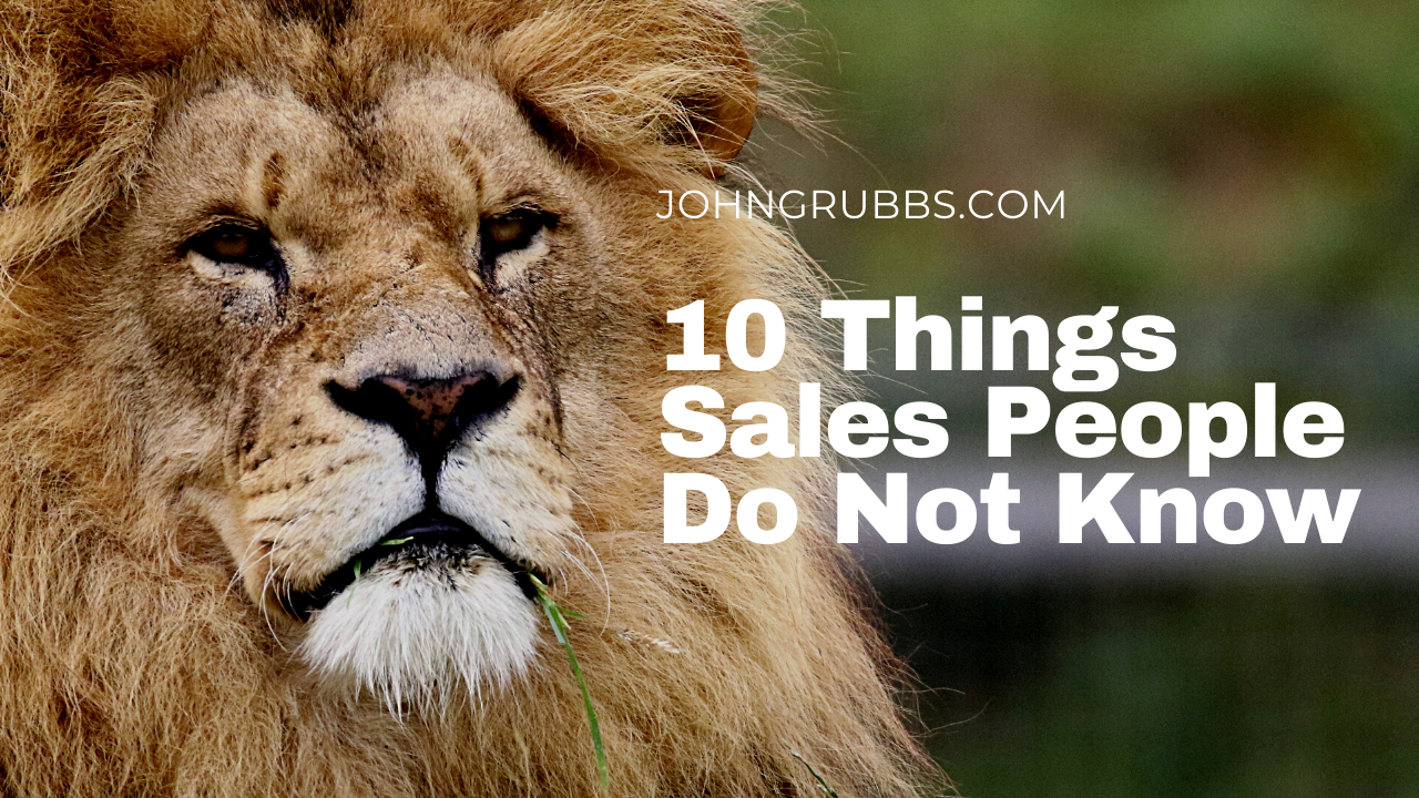 10 things sales do not know