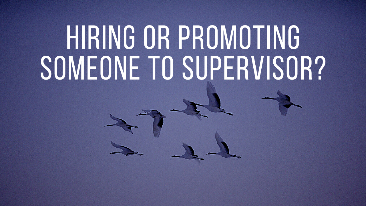 hiring or promoting supervisors
